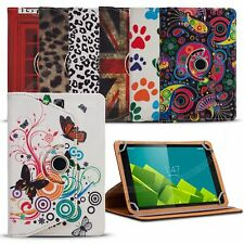 Fits Android 7 inch Tablet - Universal 360 Rotating Printed Pattern Cover