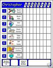 Chore Chart w.Movable Chores for Multiple kids: Large Family Job Chart