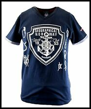 GEOGRAPHICAL NORWAY camiseta hombre Manga corta YATE CLUB Cuello Pico M– 3XL