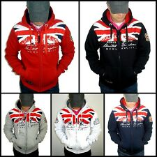 NUEVO Geographical Norway Sudadera con capucha Gangster Unit by Chaqueta Jersey