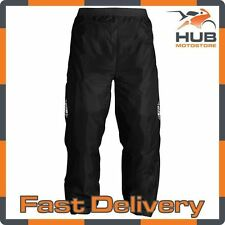 Oxford Rainseal Motorcycle Motorbike Waterproof Over Trousers  - Black