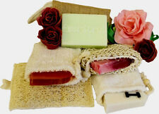 HANDMADE SOAP GIFT SET - SISAL SOAP POUCH & SOAP- SELECT SCENT -VALENTINE'S GIFT