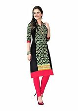 Printed Pure Cotton Long Straight Fit Casual Wear Ready Made Women Kurti Top