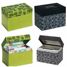 CR Gibson Recipe File Box / Organiser with Recipe Cards & Dividers