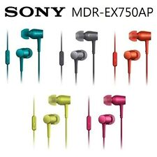Sony Mdr-ex750ap In Ear Canal Stereo Earphones With Mic Super Sound