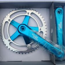Sturmey Archer Track / Singlespeed Chainset 170mm crank length blue or red
