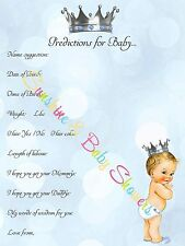 Baby Shower Game Predictions for Baby PRINCE BABY BOY 10 20 30 40 50 Players