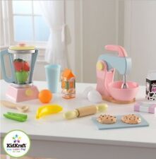 Kids Wooden Play Pretend Kitchen Appliances Toaster Baking Cooking Culinary Gift