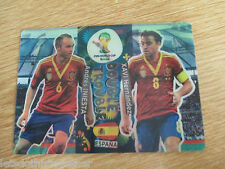 RARE! Adrenalyn XL World Cup 2014 Iniesta & Xavi Hernandez Double Trouble Spain
