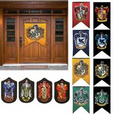 Harry Potter House Wall Banners Badge Patch Hogwarts Gryffindor Flag Home Decor