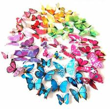 12 pcs 3d Butterfly wall stickers Art Decal Home Room Bedroom Decorations Decor