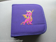 RETRO Spyro The Dragon PlayStation PS1 Purple CD Games Holder Travel Wallet Case
