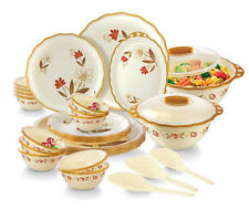 Joyo Home Wave Microwave Safe Round Dinner Set Printed - 32 Pcs (JHWMW32PTD)