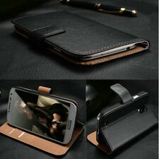 Luxury Real Genuine Case for LG Flip Wallet Cover Stand Function Shockproof