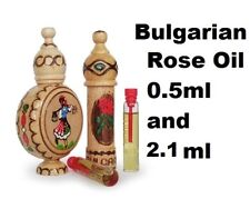 100% Natural Bulgarian ROSE OIL OTTO Essential Rosa damascena CERTIFIED 0.5ML