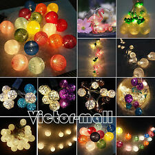 10/20LED Battery Operated Christmas Fairy String Lights Xmas Party Wedding Decor
