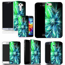 hard back case cover for many mobiles - blue funky flowers