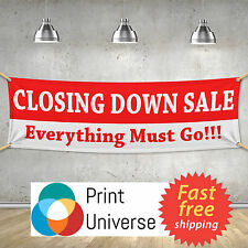 Closing Down Sale Everything Must Go! -  PVC Banner Sign Customize Any Colour