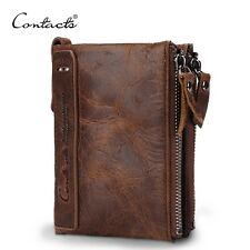 Mens wallet purse card hoder 100% Genuine Leather brand contacts boys walletS