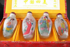 RARE CHINESE INSIDE HAND PAINTING GLASS SEXY China 4 beauty SNUFF BOTTLE NR