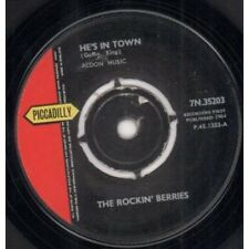 "ROCKIN' BERRIES He's In Town 7"" VINYL UK Piccadilly 1964 4 Prong Label Design"