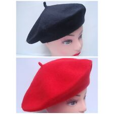 Plain Beret Hat 100% Wool French Beret Winter Autumn Women/Girls Fashion Hats