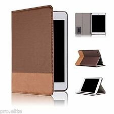 "Qinda Luxury Leather Smart Flip Case cover for Apple iPad 2/3/4 9.7"" Light Brown"