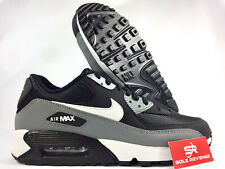New Men's Nike Air Max 90 Essential Running Shoes Black Gray 95 537384-053 f1