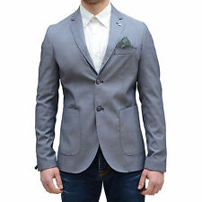Giacca uomo sartoriale Vincent Trade elegante slim fit blu Made In Ialy