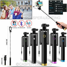 3.5mm Wired Mini Selfie Stick + Foldable SmartPhone Holder For iPhone Galaxy NEW
