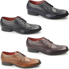 Base London BAILEY Mens Soft Grain Leather Smart Formal Lace Up Brogue Shoes
