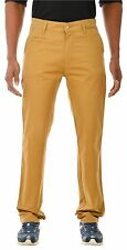 Slim Fit Mid Rise Khaki Cotton Stretch Chino Trouser Pant