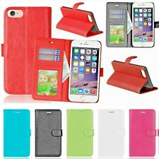 PU Leather Case Wallet Card Slots Photo Flip Stand for Apple iPhone 7 7 Plus 8