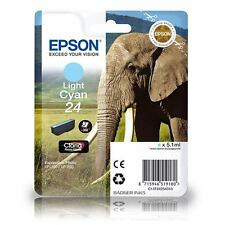 T2425 Epson 24 Light Cyan Original Ink Cartridge C13T24254010 Elephant Series