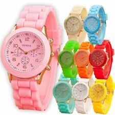Men Women Silicone Wrist Watch GENEVA Stainless Steel Quartz Sport Analog Watch