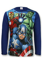 CHILDRENS BOYS LONG SLEEVE AVENGERS MARVEL T-SHIRTS/TOPS/T-SHIRT