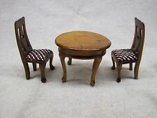 Vintage Wood Doll Furniture Table and Chairs