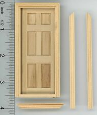 Dollhouse Miniature 1:24 Scale Interior Door w/Trim by Houseworks