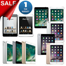 Apple iPad mini 1,2,3, 4 AT&T,T-Mobile,Sprint,Verizon WiFi Tablet 1 Yr Warranty
