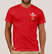 WALES RUGBY T-Shirt Top. SIX NATIONS Shirt. 6 Nations 2017