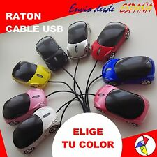 RATON OPTICO USB CABLE, CON FORMA COCHE DEPORTIVO FERRARI, FAROS LED PC PORTATIL