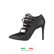 MADE IN ITALIA Zapatos de Tacon mujer color negro MORGANA Negro ORIGINAL