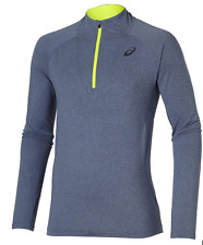 Asics LS Jersey 1/2 Zip Heather - Herren Running-Shirt - Indigo blue 131804-8118