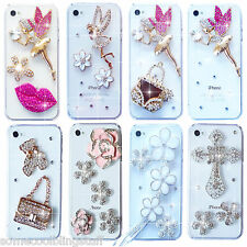 3D Ángel BRILLANTE LUJOSO DIAMANTE FUNDA PROTECTORA PARA SAMSUNG iPHONE SONY HTC