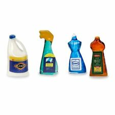 Dollhouse Miniature Set of Household Cleaning Products