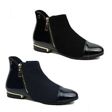 WOMENS LADIES CHELSEA STYLE BLOCK HEEL ANKLE BOOTS BOOTEIS SHOES SIZE 3-8
