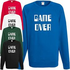 Game Over Sudadera Gaming JERSEY RETRO ORDENADOR CONSOLA GAMER Regalo Navidad