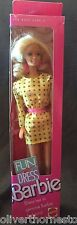 Vintage Mattel Genuine 1989 Fun To Dress Fashion Yellow Barbie Doll NEW NIB