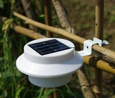 Solar Lights Power Outdoor Garden Light Fence LED Wall With Bracket Yellow Light