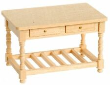 Dollhouse Miniature 1:24 Scale Natural Wood Work Table